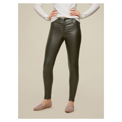 Dorothy Perkins khaki skinny fit kalhoty