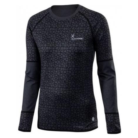 Klimatex ELENA černá - Dámské běžecké triko s dlouhým rukávem