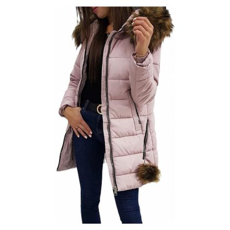 Zimní prošívaná bunda stella - ružová BASIC