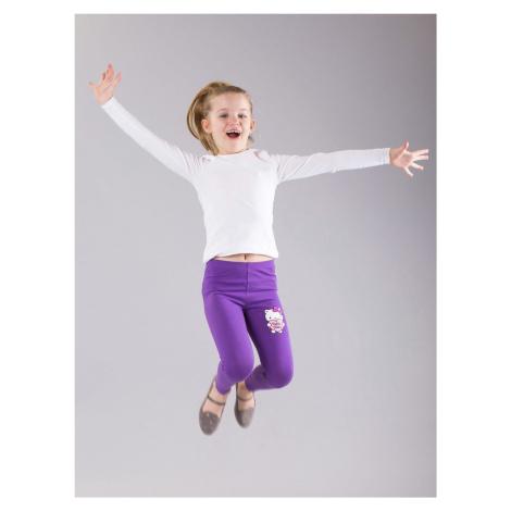 Dívčí fialové legíny s motivem HELLO KITTY