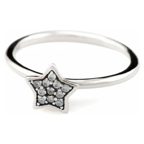 Linda's Jewelry Stříbrný prsten Shiny Star IPR008 Velikost: 56