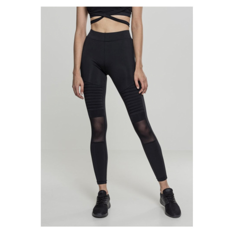 Legíny Urban Classics Ladies Tech Mesh Biker Leggings