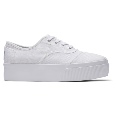 White Heritage Canvas Women Cordones Boardwalk Toms