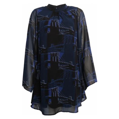 Modré volné šaty s jemnými kamínky Pepe Jeans