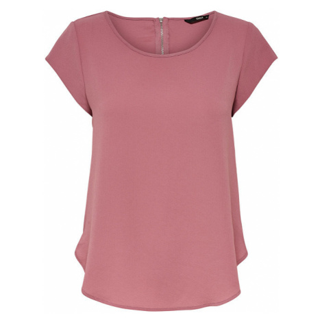 ONLY Dámská halenka Vic S/S Solid Top Noos Wvn Mesa Rose