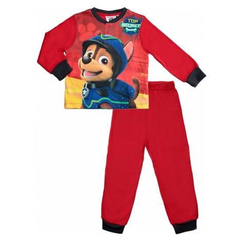 Chlapecké červené pyžamo tlapková patrola