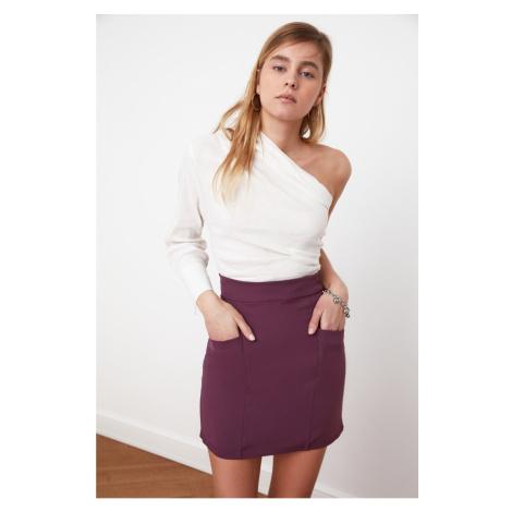 Trendyol Purple Pocket Detail Skirt