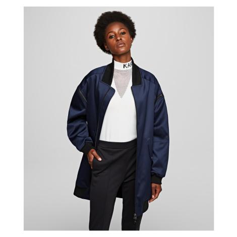 Bunda Karl Lagerfeld Bomber W/ Zip Off Sleeves - Modrá