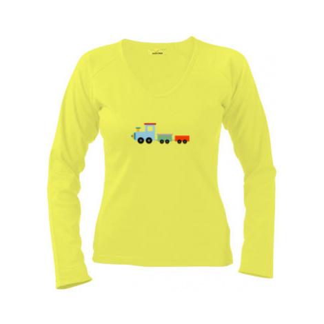 Dámské tričko dlouhý rukáv Kids train