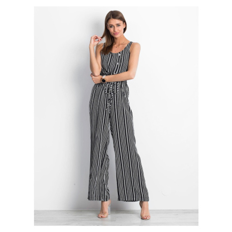 Black and white patterned jumpsuit Fashionhunters