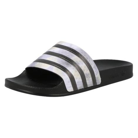 ADIDAS ORIGINALS Pantofle 'Adilette' černá / světle fialová