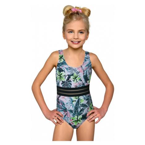 Klasické jednodílné dívčí plavky Adrianka květinové Lorin