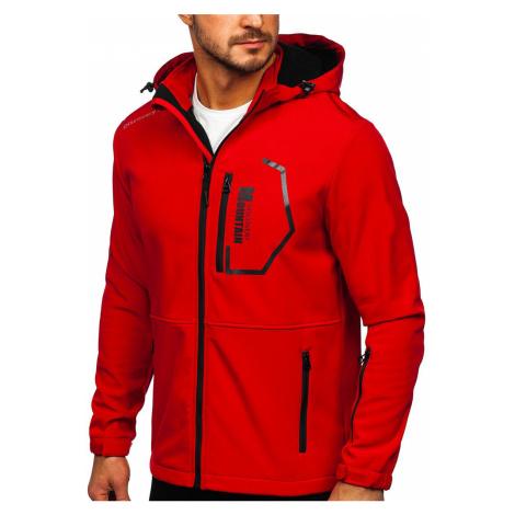Červená pánská softshellová bunda Bolf HH024 J.STYLE