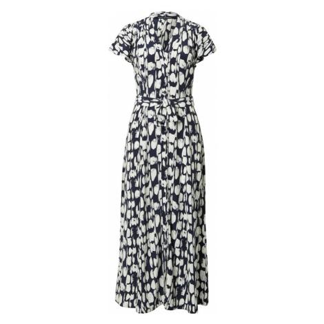 FRENCH CONNECTION Košilové šaty 'ISLANNA' bílá / modrá
