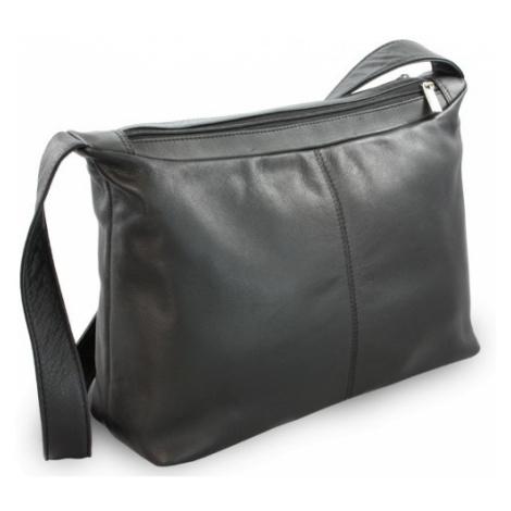 Černá dámská kožená kabelka Amilies Arwel