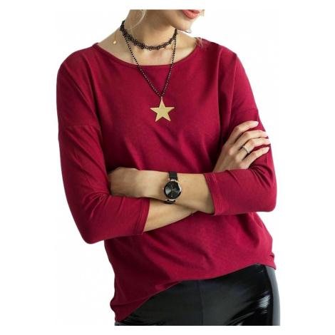 Vínově-červené dámské tričko BASIC