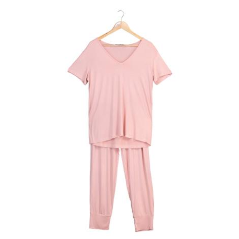 Trendyol Salmon V-Neck Pajamas Set