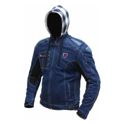 Jeansová Moto Bunda Spark Hawk Modrá