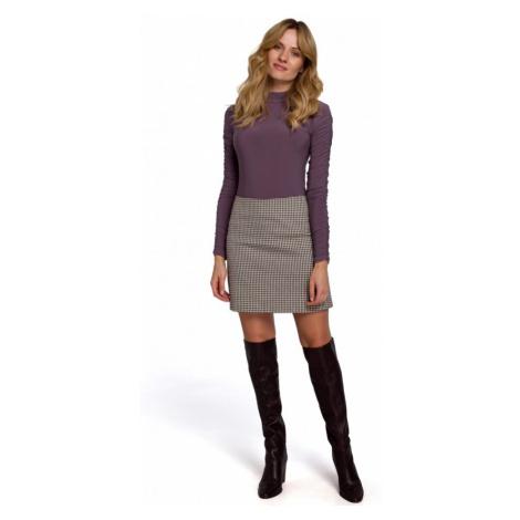 Mini sukně s potiskem gingham MAKEOVER K075