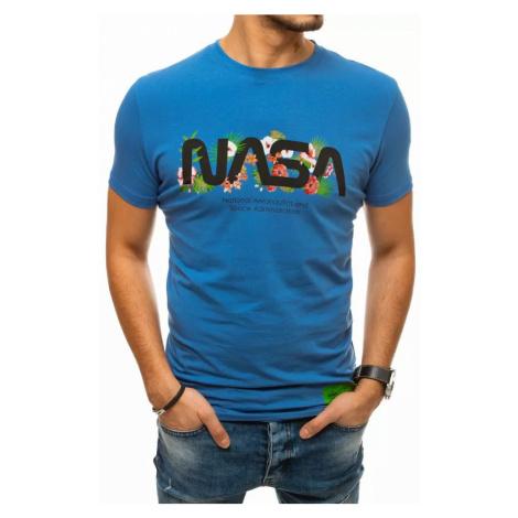 Dstreet Originální nebesky modré tričko s potiskem NASA