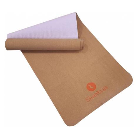 Sveltus Cork Yoga Mat 183 x 61 x 0,4 cm Hnědá