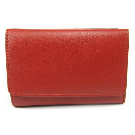 Kožená dámská červená peněženka Golunski