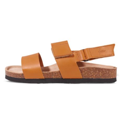 Vasky Sany Caramel - Pánské kožené sandály světle hnědé, česká výroba