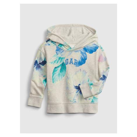 GAP béžové dětská mikina Logo floral hoodie