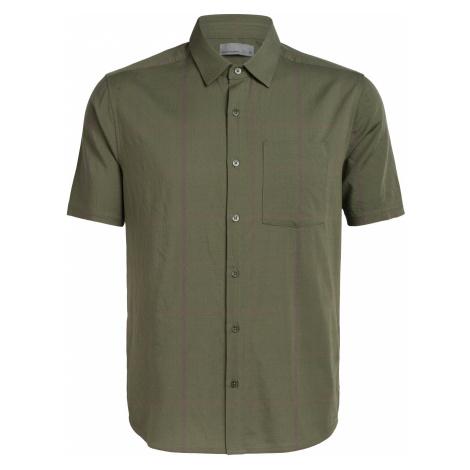 Pánská košile ICEBREAKER Mens Compass SS Shirt, Cypress/DRIFTWOOD Icebreaker Merino