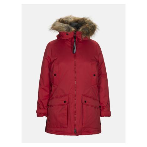 Kabát Peak Performance W Local P Coat - Červená