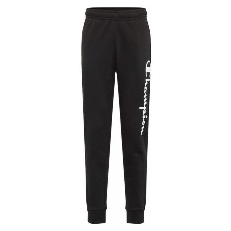 Champion Authentic Athletic Apparel Kalhoty černá / bílá