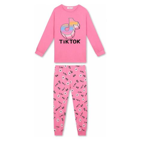 Dívčí pyžamo - KUGO MP1304, růžová světle