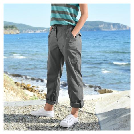 Blancheporte Rovné kalhoty s kapsami bronzová