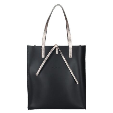 Dámská kožená kabelka Facebag Elmo - černo-zlatá