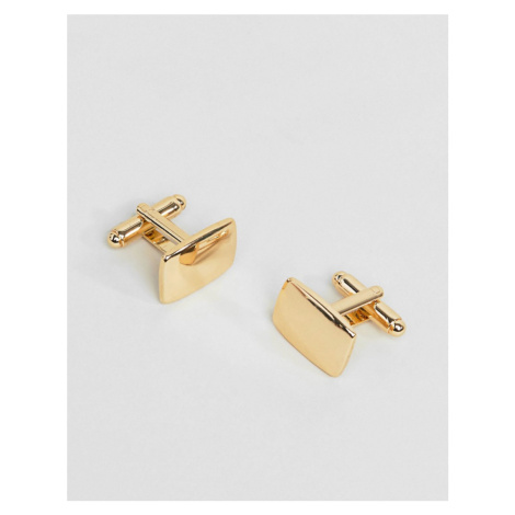 ASOS DESIGN square cufflinks in gold tone - Gold