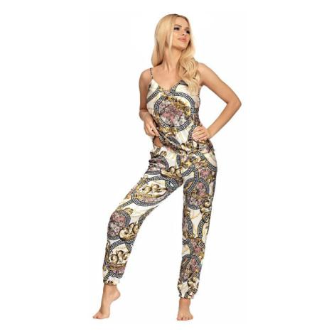 Luxusní saténové pyžamo Donatella 01 zlaté