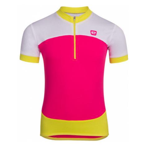 Dětský cyklistický dres Etape Peddy růžovo-limetkový