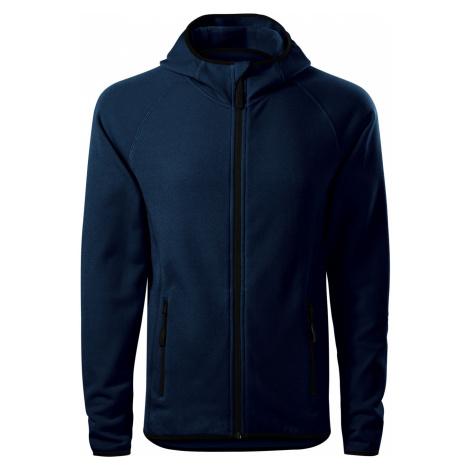 Malfini Direct Pánská fleece mikina s kapucí 41702 námořní modrá