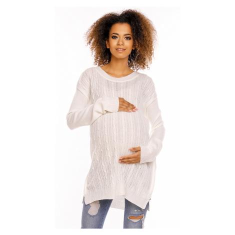 Smetanový těhotenský pulovr 70007C PeeKaBoo