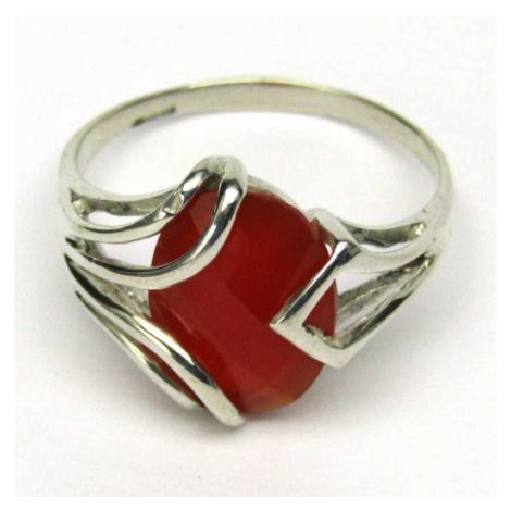 AutorskeSperky.com - Stříbrný prsten s karneolem - S4568