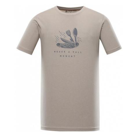 Uneg 9 šedá pánské bavlněné triko ALPINE PRO