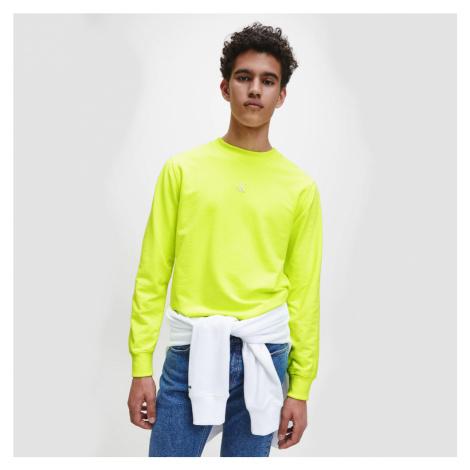 Calvin Klein pánská neonově žlutá mikina