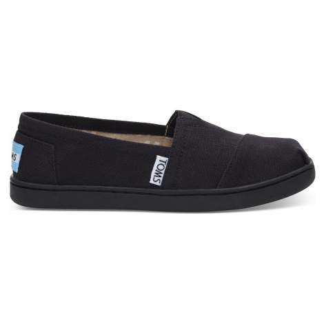 CLASSIC-Black Canvas YOUTH Toms