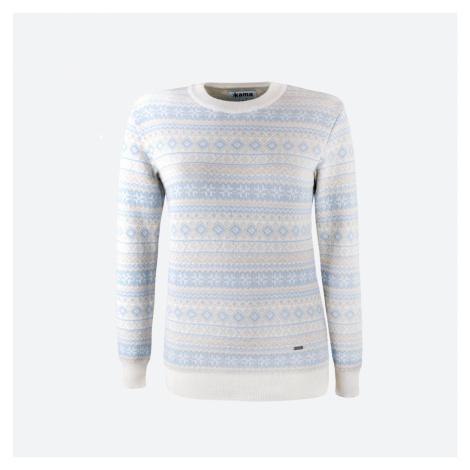 Kama 5024-101 merino svetr přírodně bílý