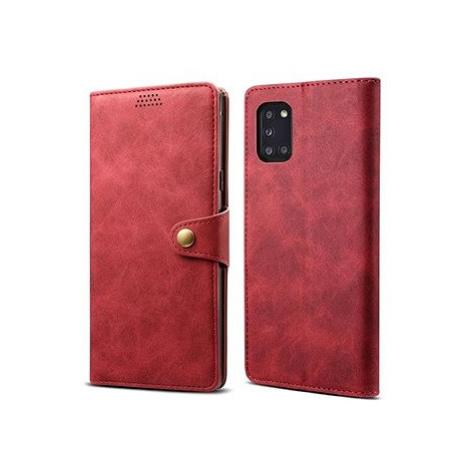 Lenuo Leather pro Samsung Galaxy A31, červená