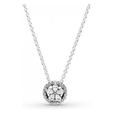 Pandora Třpytivý stříbrný náhrdelník Sparkling Snowflake 399230C01-45 (řetízek, přívěsek)
