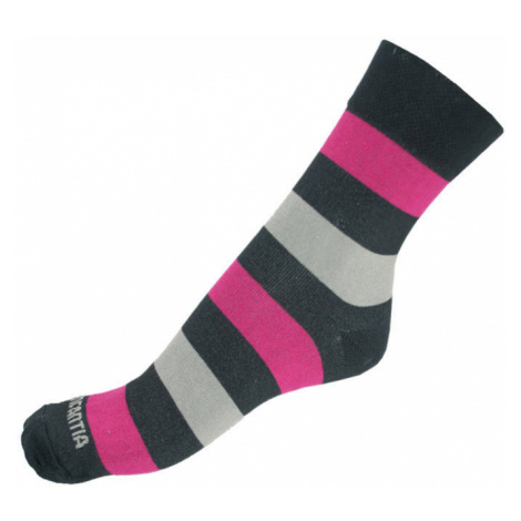 Ponožky Infantia Classicline růžovo šedo černé pruhy L