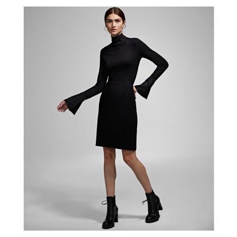 Sukně Karl Lagerfeld Karl X Carine Wool Skirt - Černá
