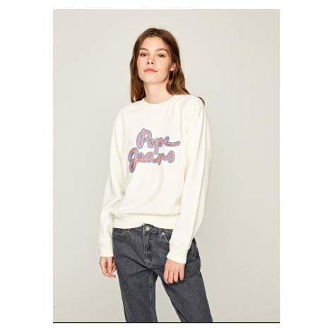 Pepe Jeans dámská smetanová mikina Bonnie