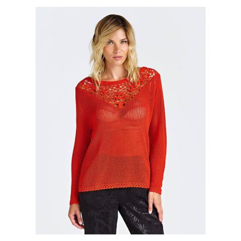 Guess GUESS dámský červený pletený svetr